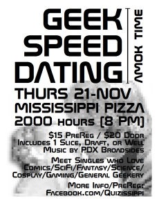 Geek Speed Dating Nov 2013