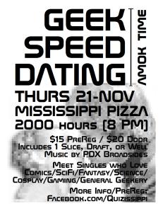 Geek Speed Dating Nov 2013